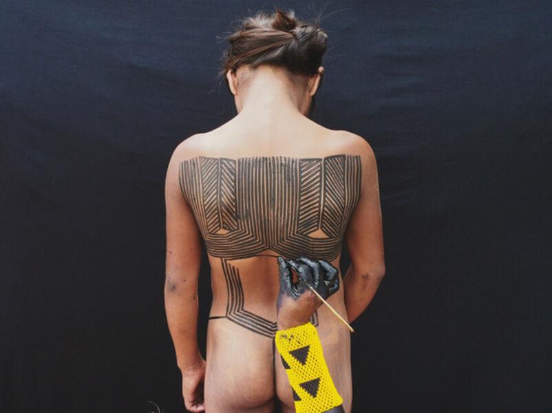 Pinar Yolaçan, 'Kayapo Painting', 2017