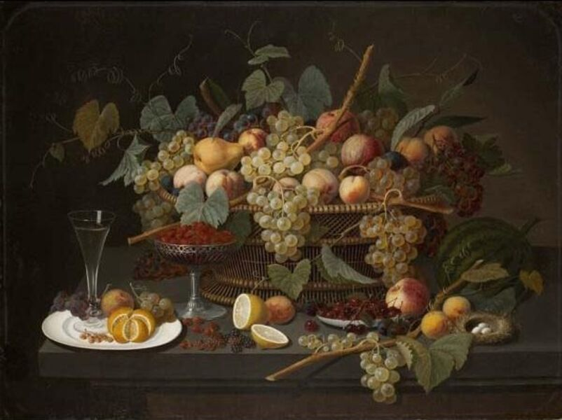 Severin Roesen, 'Still Life with Fruit', 1850-1860