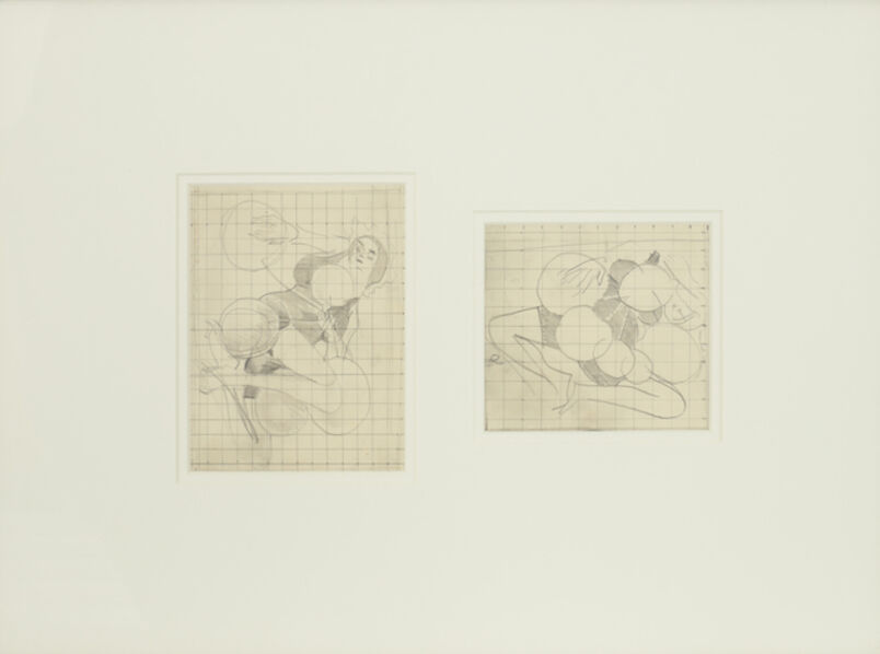 Stanley Spencer, 'Women with Balloons (Two drawings framed)', 1935