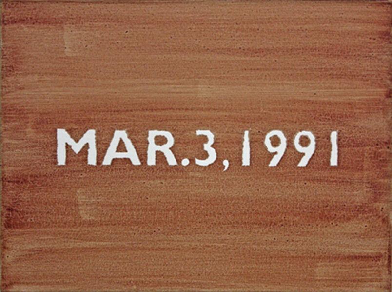 Juan Capistran, 'Sunday March 3, 1991 (Rodney)', 2012