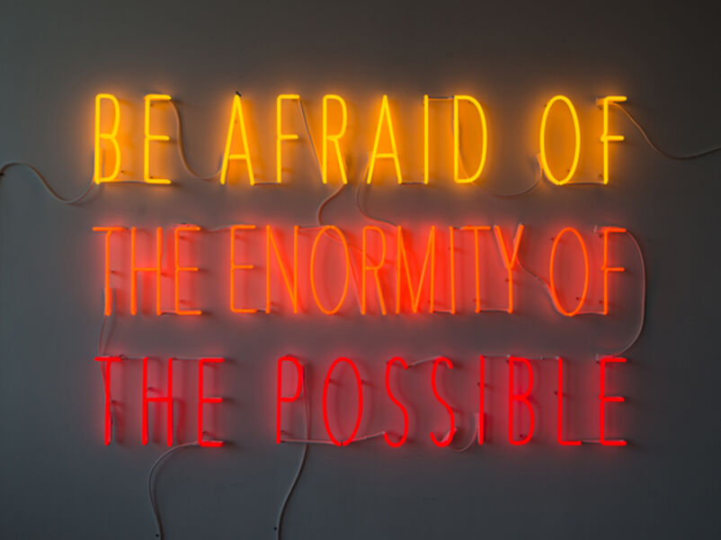 Alfredo Jaar, 'Be Afraid of the Enormity of the Possible', 2015