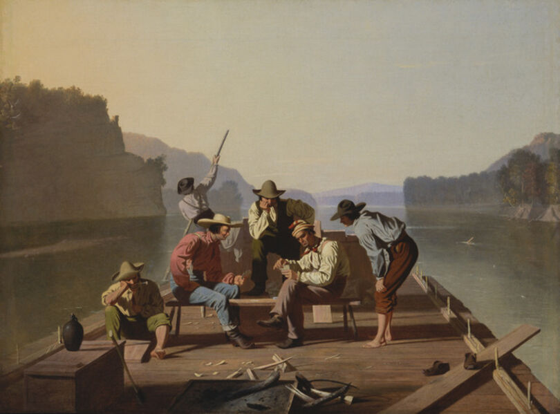 George Caleb Bingham, 'Raftsmen Playing Cards', 1847