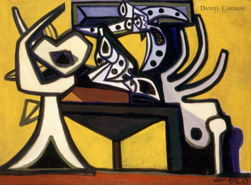 Óscar Domínguez, 'Still life with a gun', 1947
