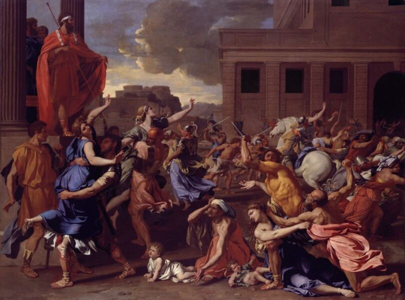 Nicolas Poussin, 'The Abduction of the Sabine Women', 1633–1634