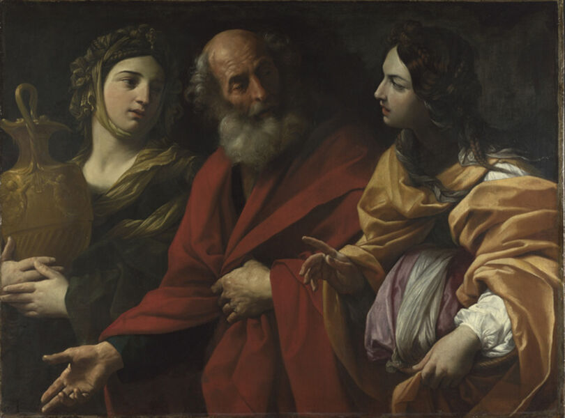 Guido Reni, 'Lot and his Daughters leaving Sodom', 1615-1616