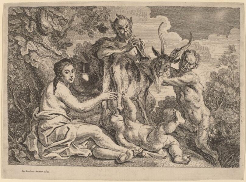 Jacob Jordaens, 'Jupiter Nourished by the Goat Amalthea', probably 1652