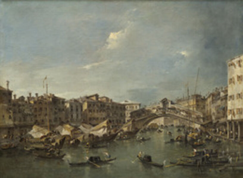 Francesco Guardi, 'Grand Canal with the Rialto Bridge, Venice', probably c. 1780