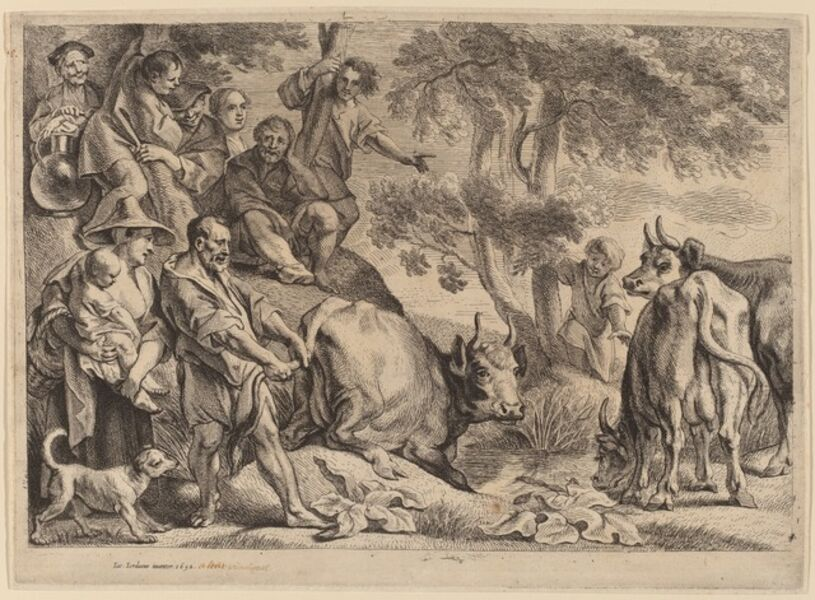 Jacob Jordaens, 'Cacus Robbing the Cattle of Hercules', probably 1652