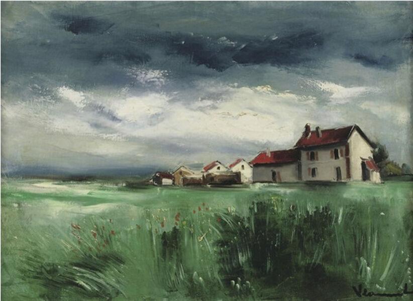 Maurice de Vlaminck, 'A Landscape with Houses', ca. 1928