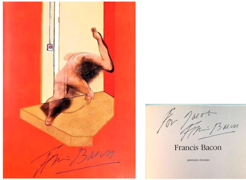 "Francis Bacon, '2 SIGNED PIECES- ""Francis Bacon/Peintures Recentes"", Gallerie Maeght Lelong, Ex. Jacob Baal-Teshuva Collection', 1984"
