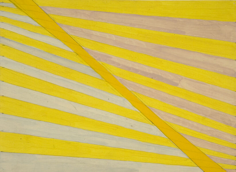 Michael Kidner, 'Yellow tapering stripes', 1962