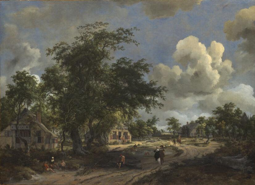 Meindert Hobbema, 'A View on a High Road', 1665