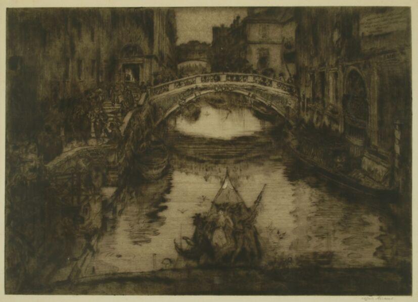 Clifford Isaac Addams, 'A Venetian Waterway', ca. 1920