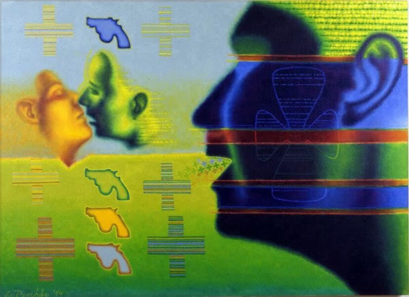 Ed Paschke, 'Croix', 1995