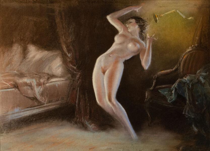 Everett Shinn, 'Nude in bedroom', ca. 1930