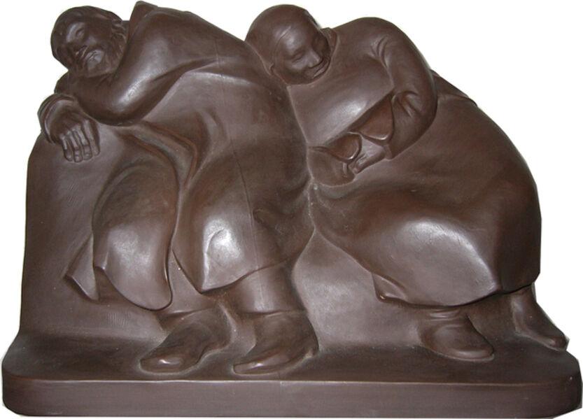 """Ernst Barlach, '""""Schlaffende Vagabunden"""" ( Sleeping Drifters )', 1912"""