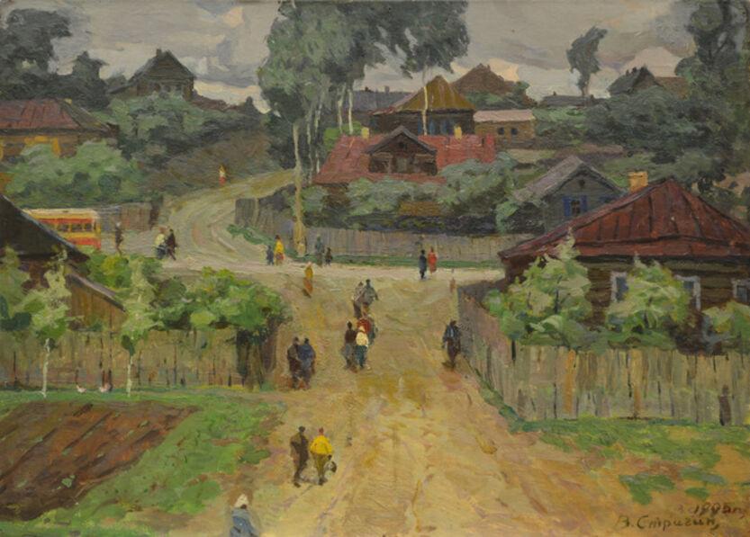 Vasily Vasilevich Strigin, 'A windy day', 1963