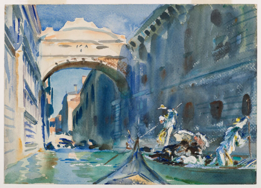 John Singer Sargent, 'The Bridge of Sighs', 1903-1904