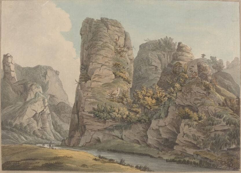 William Day, 'A Singular Rock in Dove-Dale named the Pickerell', 1789