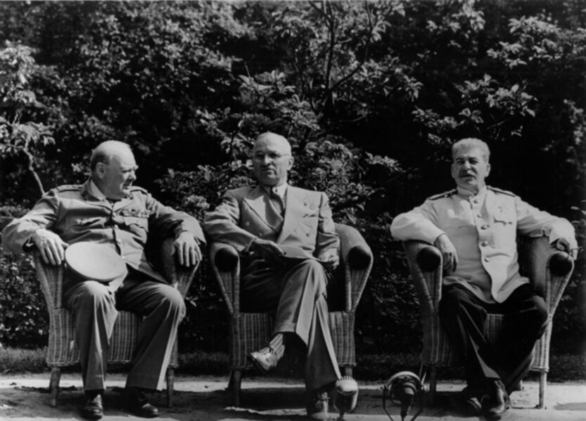 Yevgeny Khaldei, 'The Big Three at Potsdam, July, 1945: Churchill, Truman, and Stalin', 1945