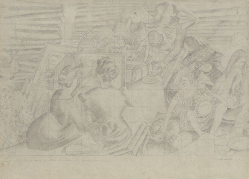 Stanley Spencer, 'Drawing for the Marriage at Cana', 1933