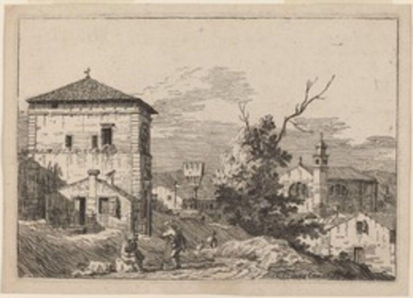 Bernardo Bellotto, 'Landscape with a Dead Tree', 1741/1742