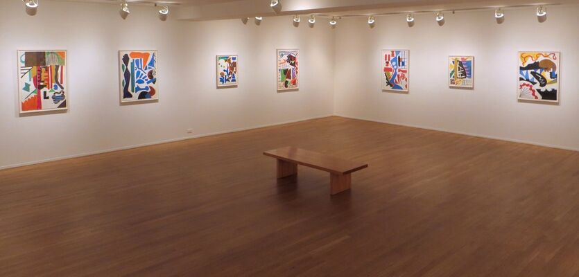 Shirley Jaffe: Works on Paper, installation view