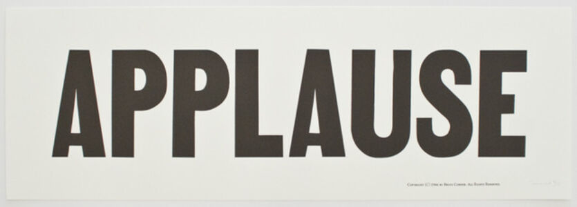 Bruce Conner, '100 Series: #128 APPLAUSE', 1970