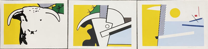Roy Lichtenstein, 'Bull Head Series (Triptych)', 1973