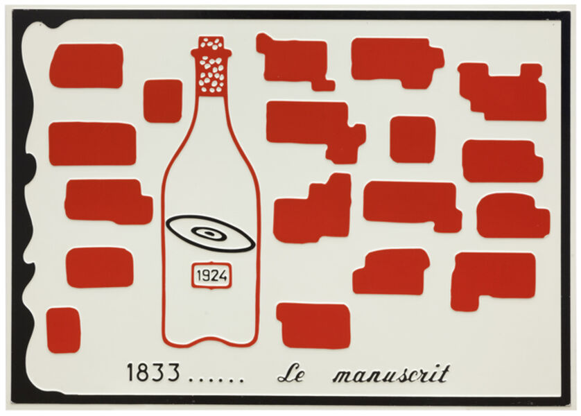 Marcel Broodthaers, 'Le Manuscrit', 1971
