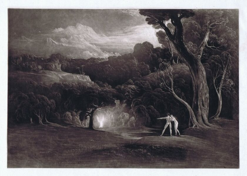 John Martin (1789-1854), 'Paradise - With the Approach of the Archangel Raphael', 1824-1825