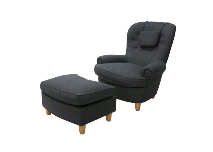 Carl Malmsten, 'A Jattepadden armchair and ottoman'