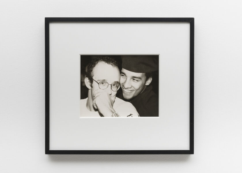 Andy Warhol, 'Keith Haring & Juan Rivera (smiling)', 1986