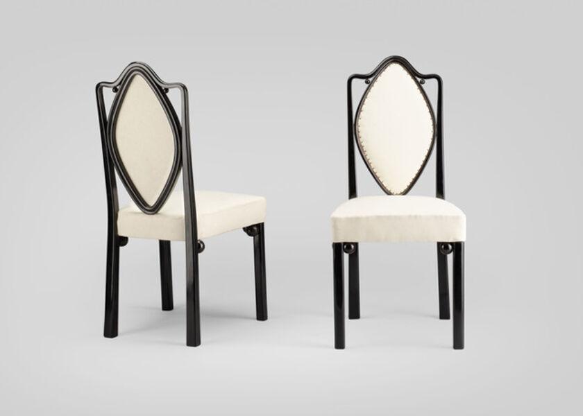 Josef Hoffmann, 'A set of six chairs', 1906