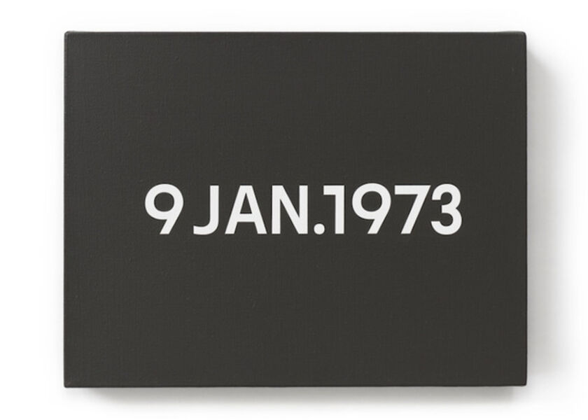 On Kawara, '9 JAN 1973', 1973