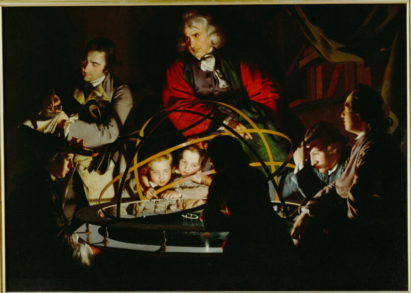 Joseph Wright of Derby, 'A Philosopher Gives a Lecture on the Orrery', 1766