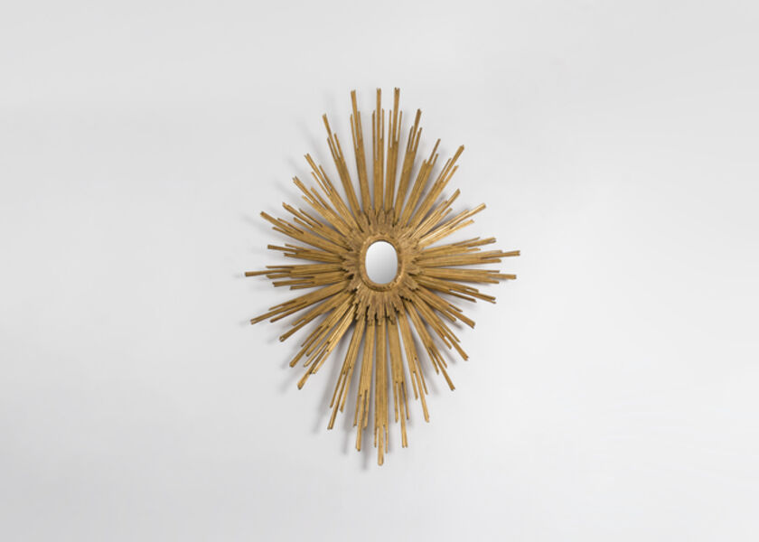 Jacques Adnet, 'Exceptional and One of a Kind Sunburst Wall Mirror', ca. 1954