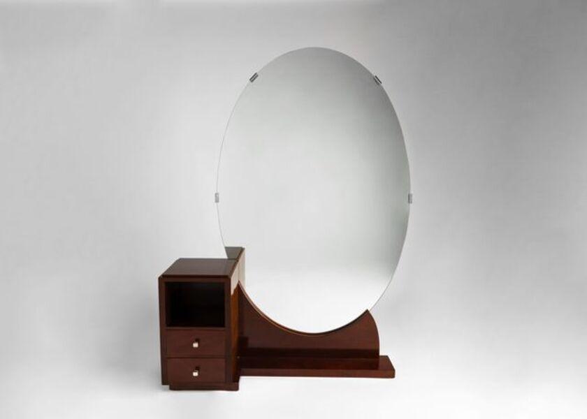 Jules Leleu, 'Fine Art Deco Standing Mirror / Vanity', ca. France-circa 1928