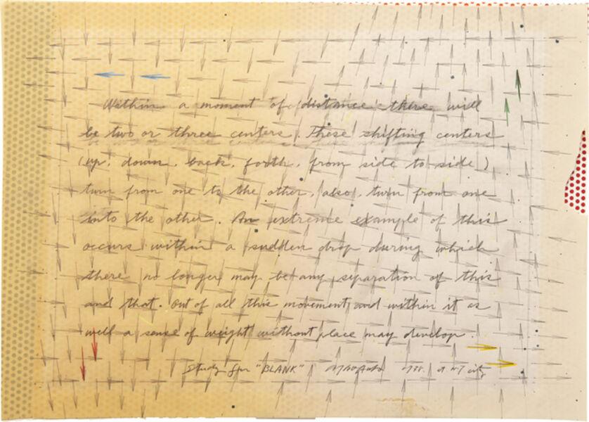 "Ei Arakawa, 'Study for ""Blank""', 1978"