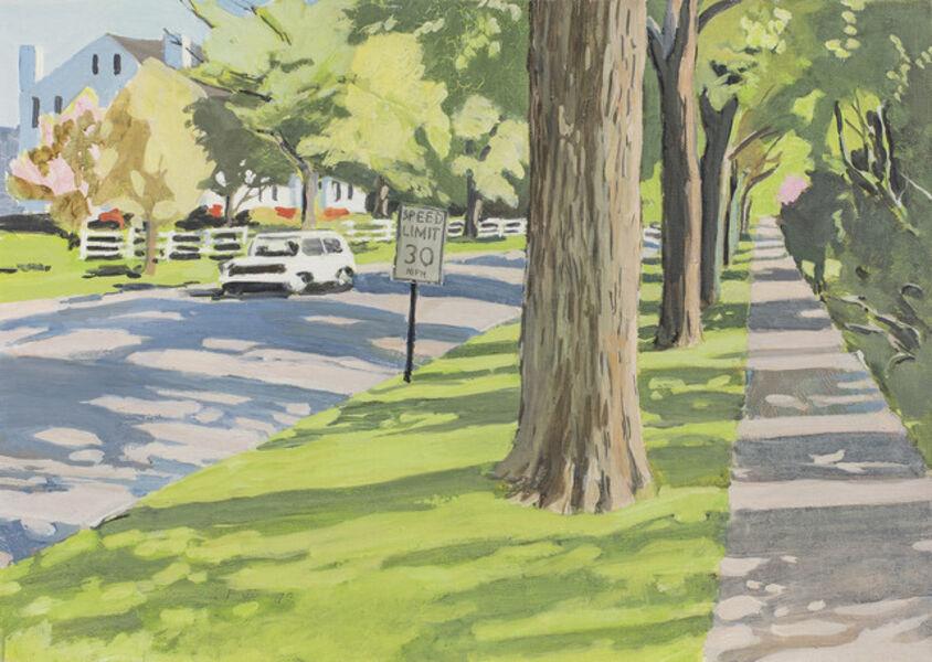 Fairfield Porter, 'Tree-lined Street', 1972