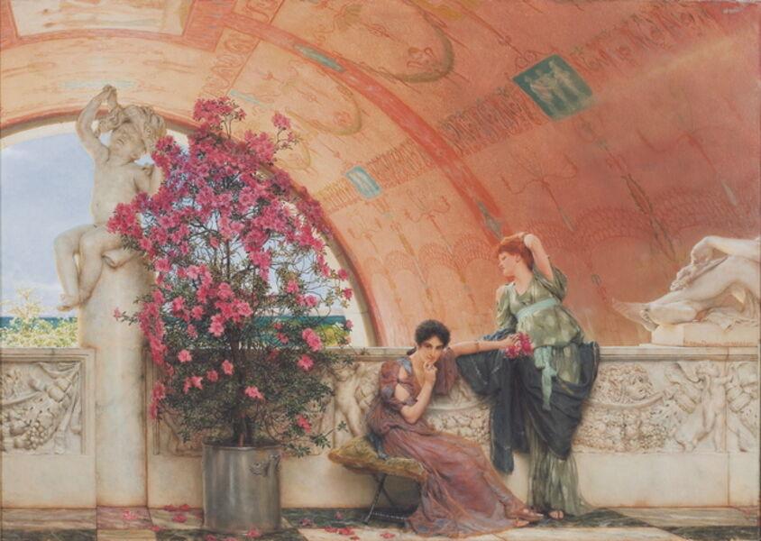 Sir Lawrence Alma-Tadema, 'Unconscious Rivals', 1893