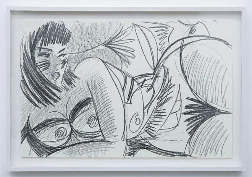 Ella Kruglyanskaya, 'Untitled (Drawing for Miami Bathers)', 2013