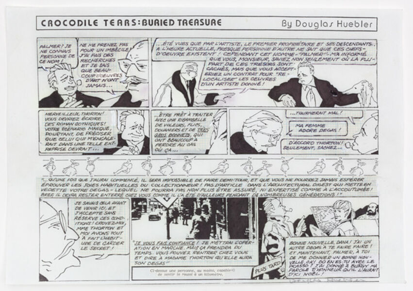 Douglas Huebler, 'Variable Piece #70: 1971 (In Process) Global, Crocodile Tears: Buried Treasure (Conceptual Comic Strip)', 1984