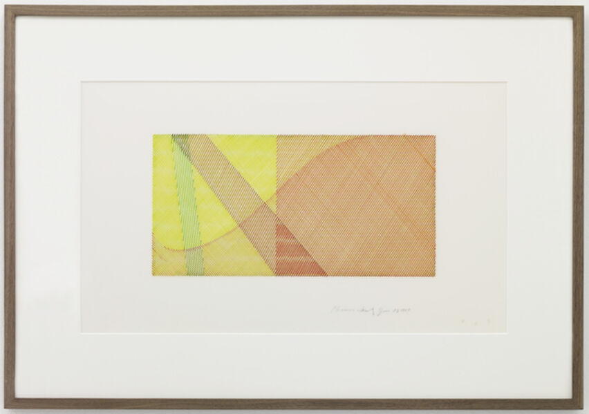 Channa Horwitz, 'Moiré (with Angles) ', 1984