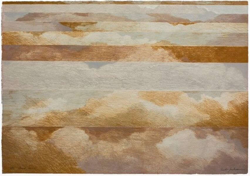 "Herb Jackson, 'Abstract ""Cloud Cover"" 1972 Lithograph on Arches Paper', 1970-1979"