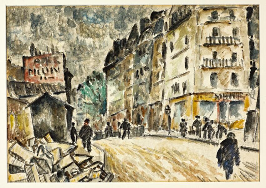 Eduard Bargheer, 'Strassenszene in Paris ', ca. 1920