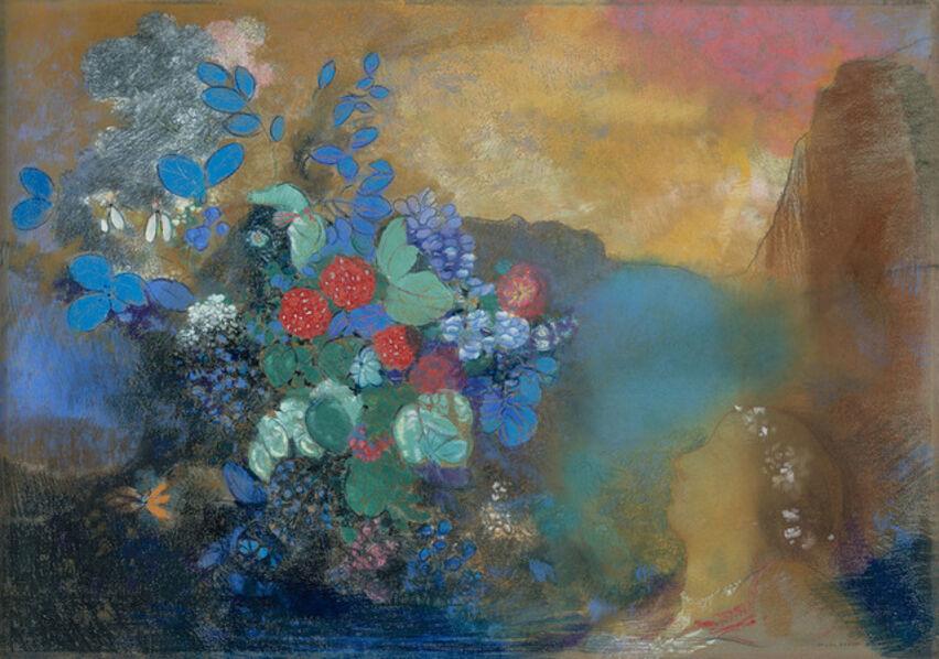 Odilon Redon, 'Ophelia among the Flowers', 1905