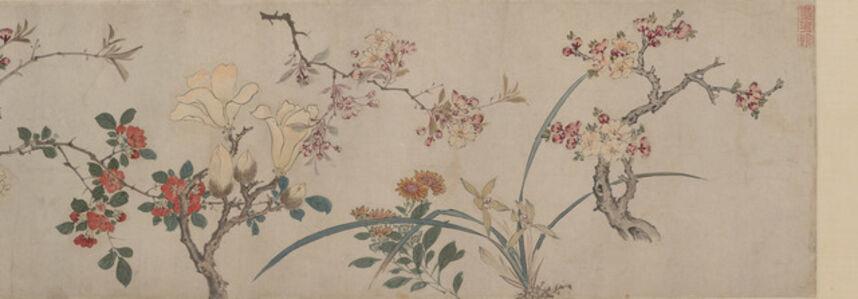 Zhou Zhimian, 'Hundred Flowers (detail)', 1598