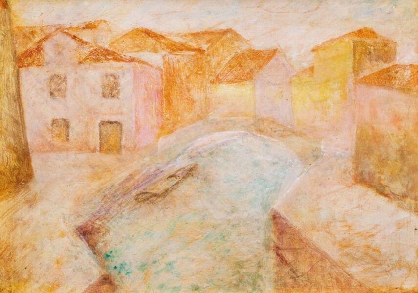 Pio Semeghini, 'Burano's landscape'