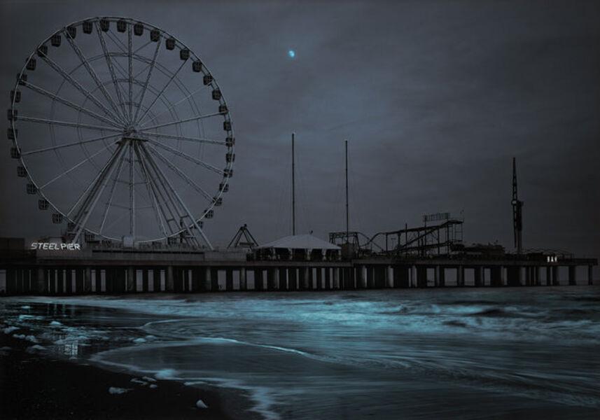 Michael Massaia, 'Steel Pier Moonrise, Atlantic City, NJ', 2020